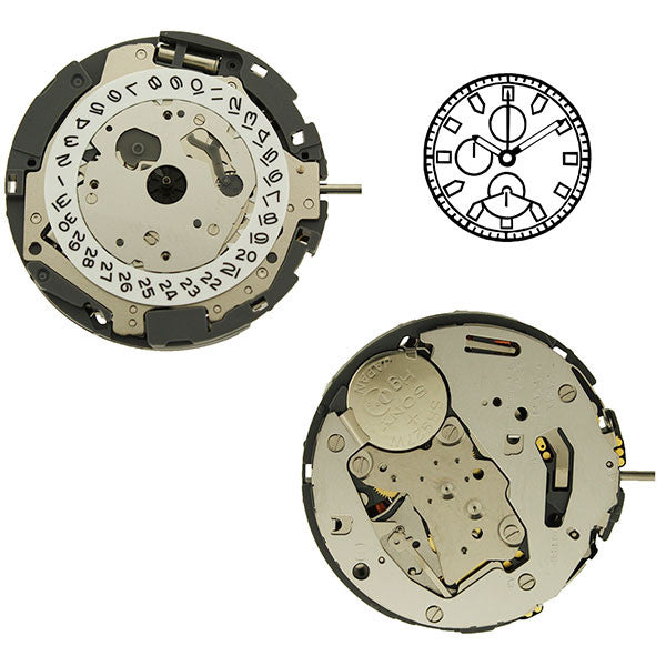 0S62 date 4 Watch Movement