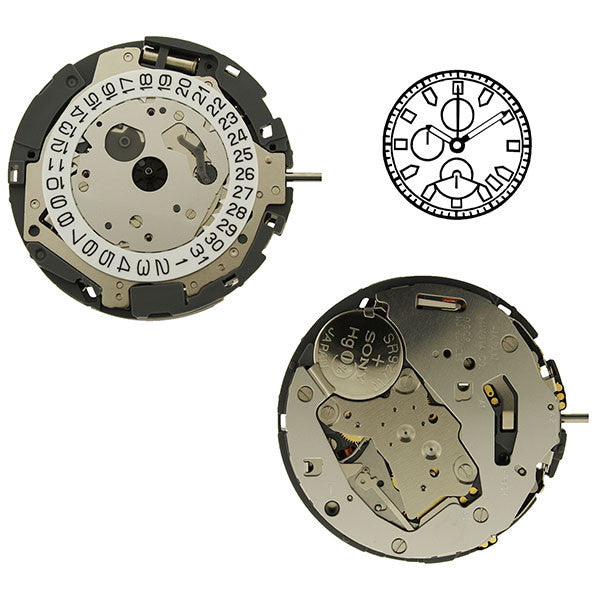 0S62 Watch Movement