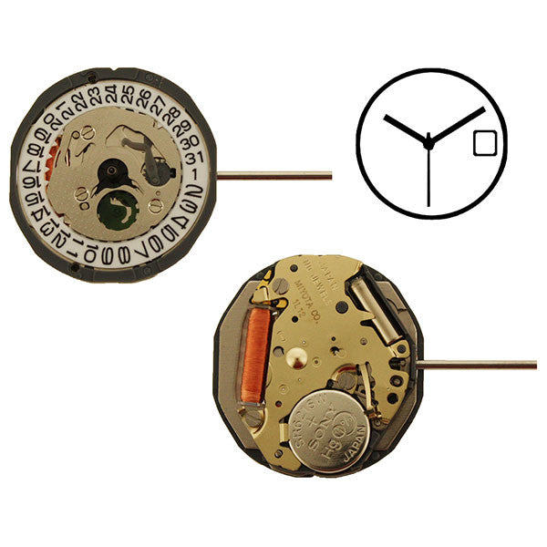1L12 Date 3 Miyota Watch Movement