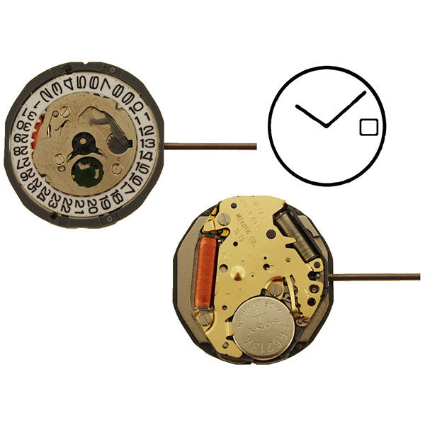 1L15 Date 3 Watch Movement