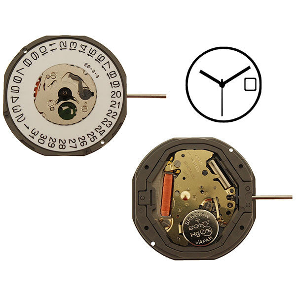 1M12 Date 3 Miyota Watch Movement