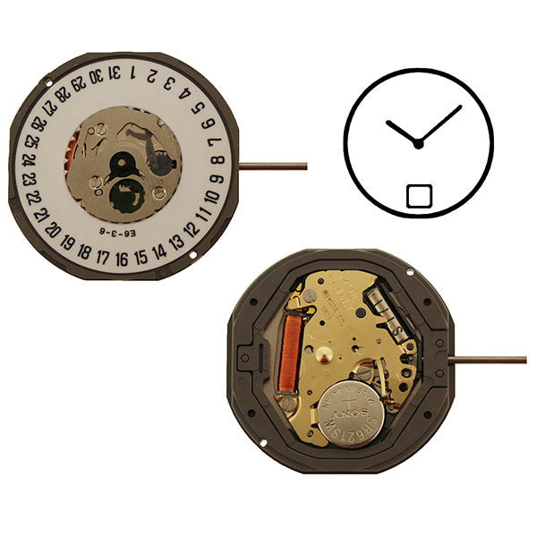 1M15 Date 6 Miyota Watch Movement