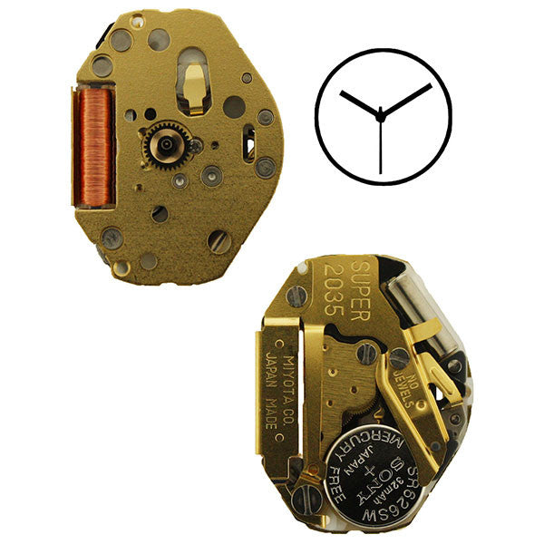 2035 Super Miyota Watch Movement