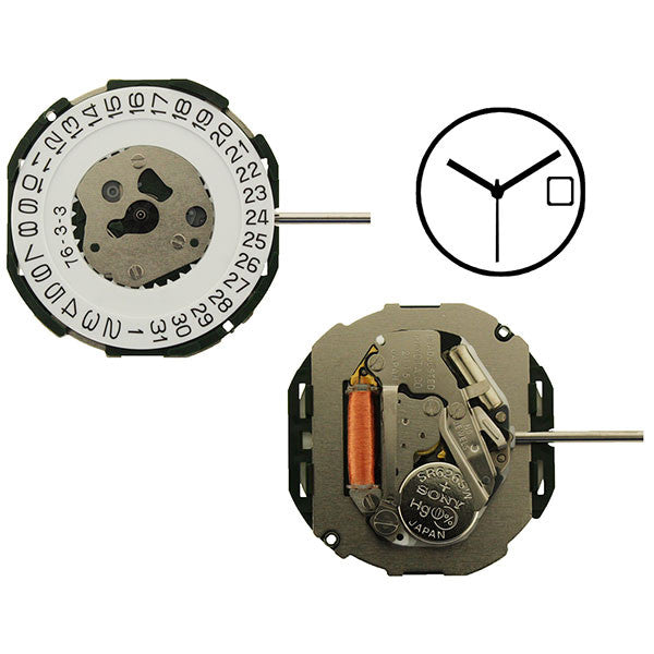 2115 Date 3 Miyota Watch Movement