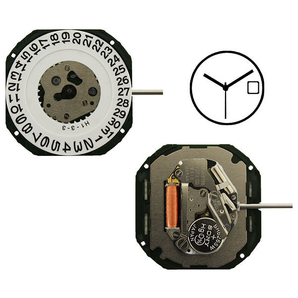 2315 Date 3 Miyota Watch Movement