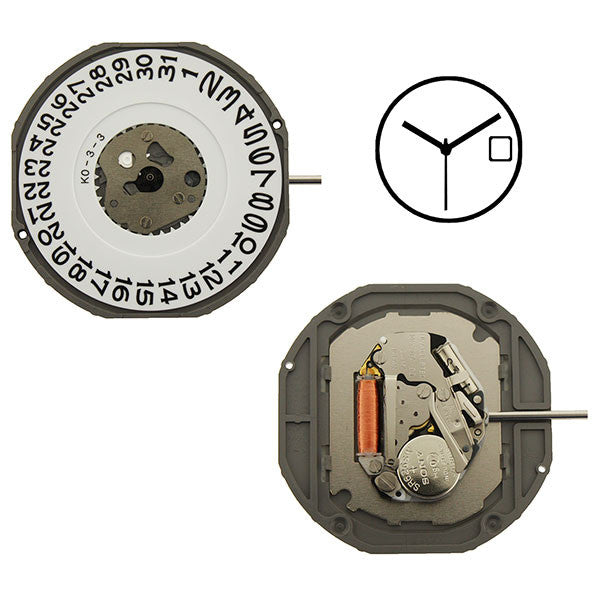 2415 Date 3 Miyota Watch Movement