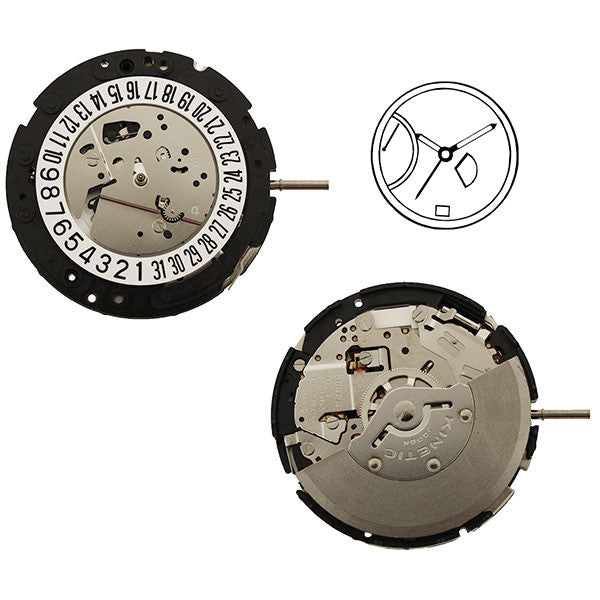 5D44 20 Seiko Watch Movement