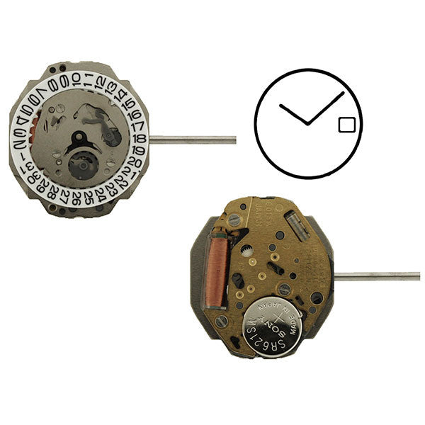 6015 Citizen Quartz Watch Movement (9345985796)