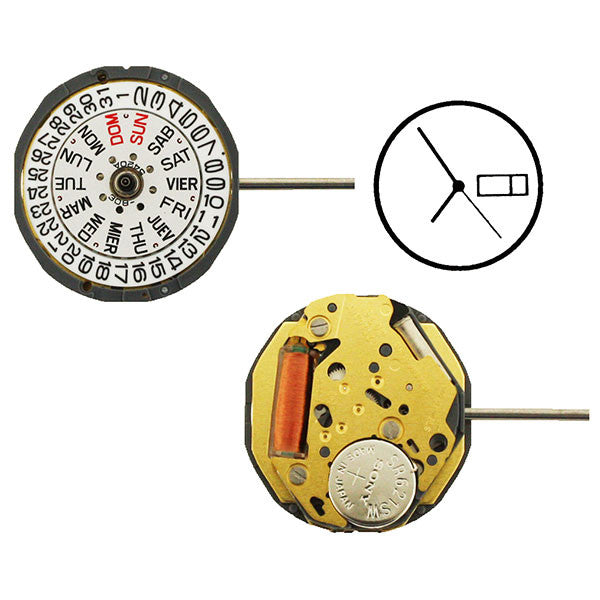 6L02 Watch Movement