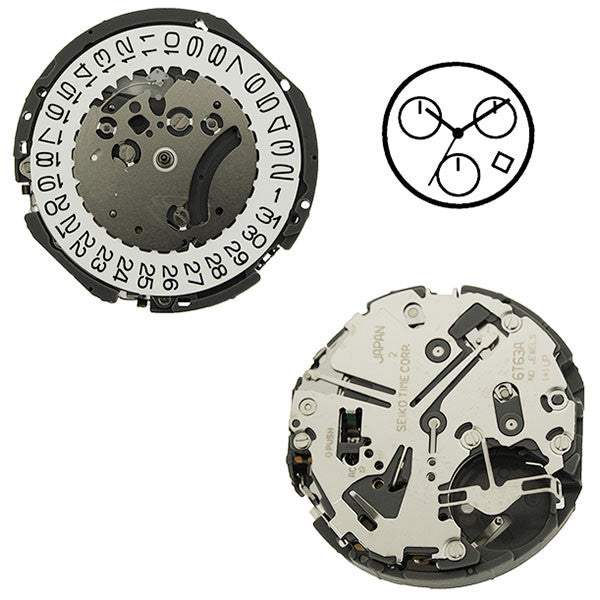 6T63 20 Seiko Watch Movement