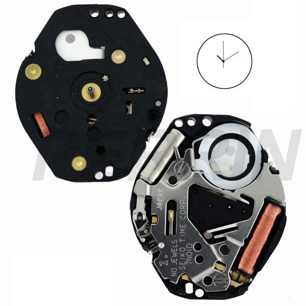 7N01 10 Watch Movement