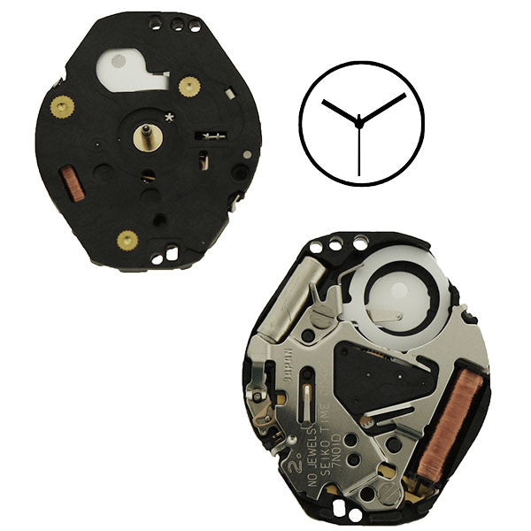 7N01 20 Seiko Watch Movement