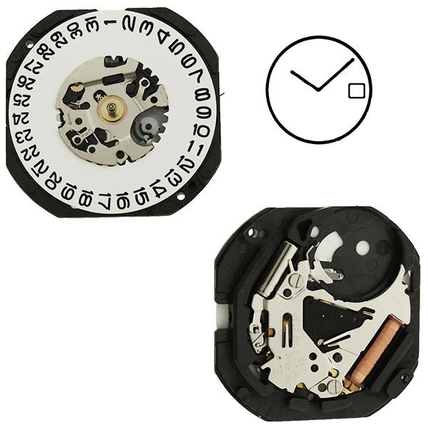 7N39 20 Seiko Watch Movement