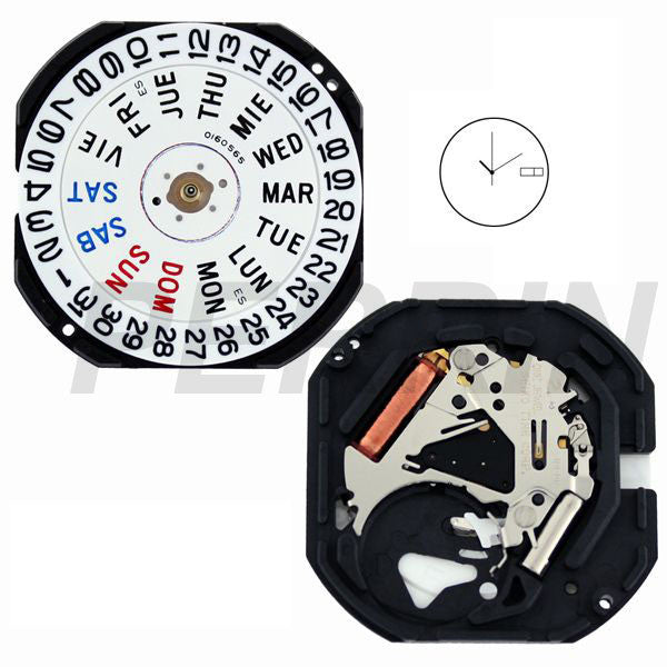 7N43 20 Seiko Quartz Watch Movement