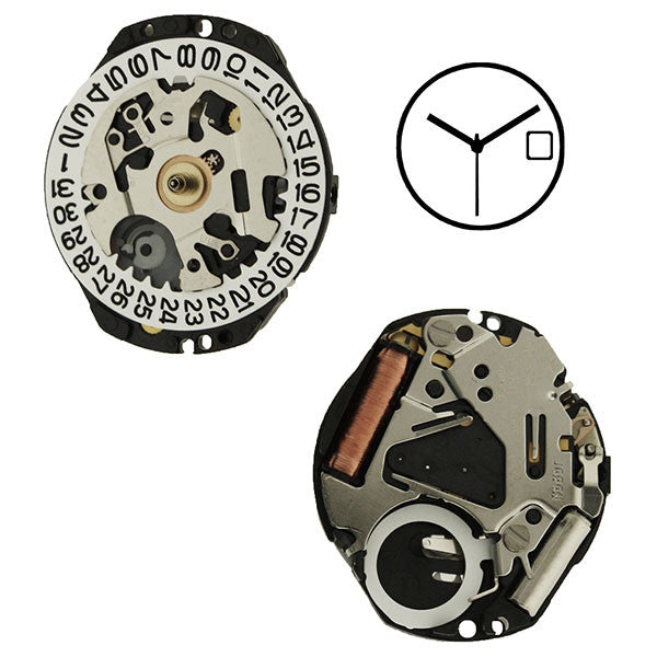 7N82 40 Seiko Watch Movement