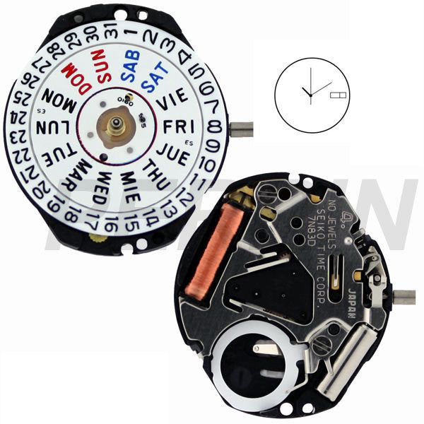 7N83 40 Watch Movement