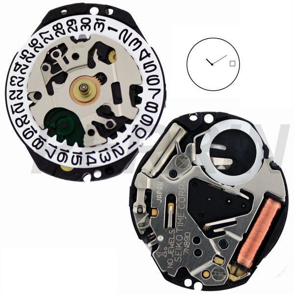 7N89 10 Watch Movement