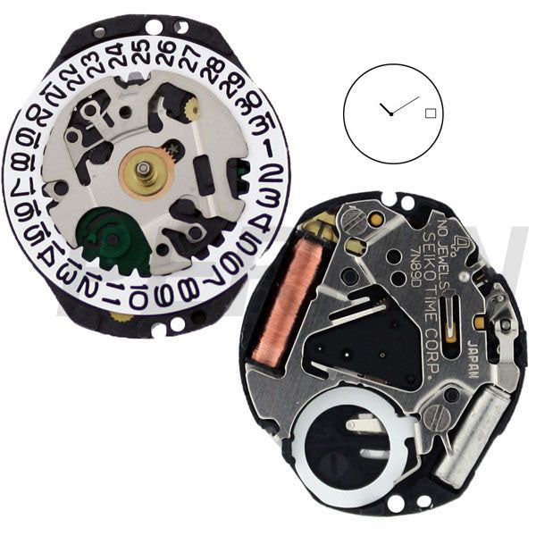 7N89 40 Watch Movement