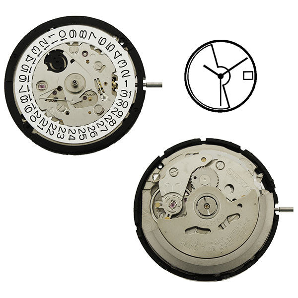 7S25 2D Seiko Automatic Watch Movement