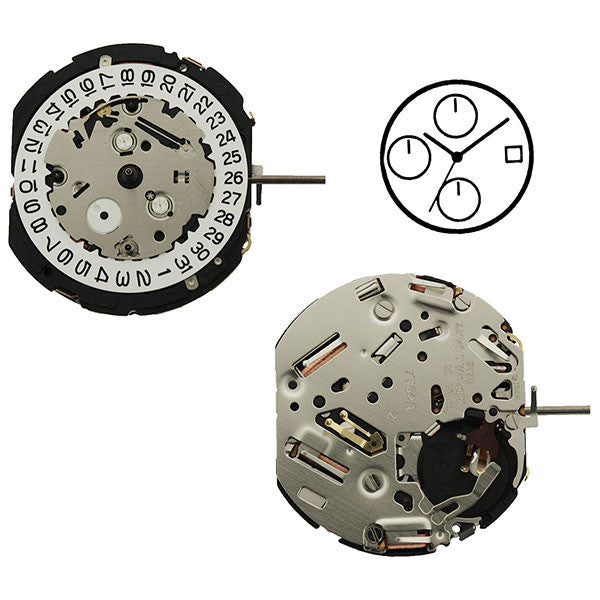 7T62 20 Seiko Quartz Watch Movement