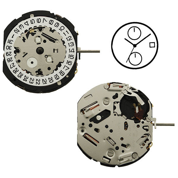 7T94 20 Seiko Watch Movement
