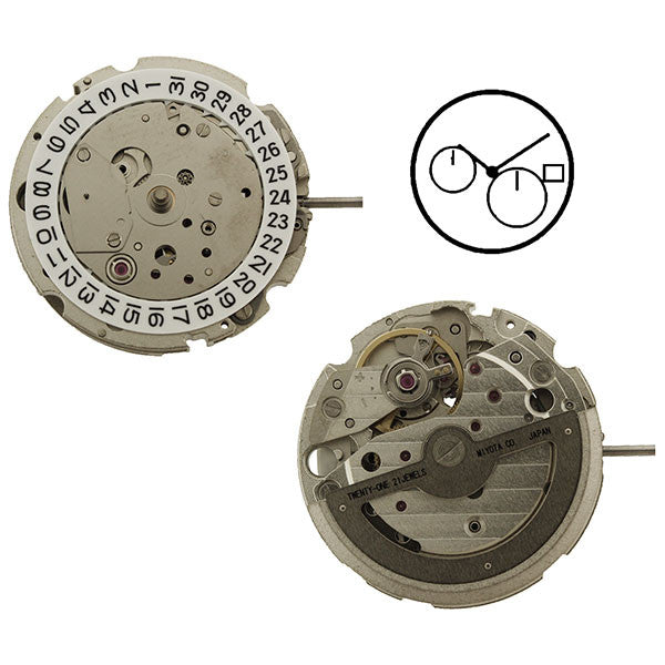 8219 Miyota Watch Movement (9346005060)