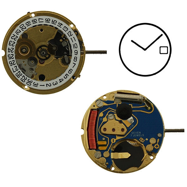 ETA 956-112 H0 2 Hands Watch Movement (9346016964)