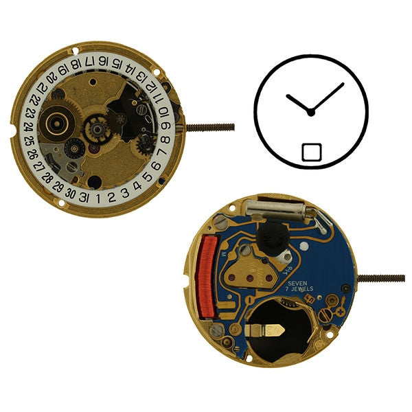 ETA 956-112 H0 2 Hands Date 6 Watch Movement