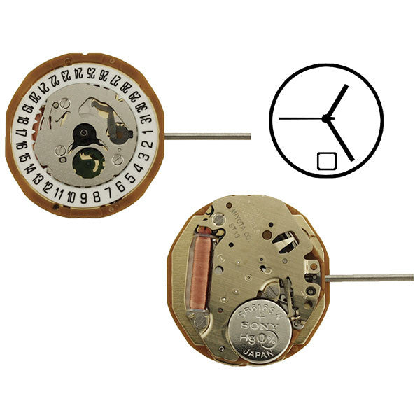 9T13 Date 6 Miyota Watch Movement