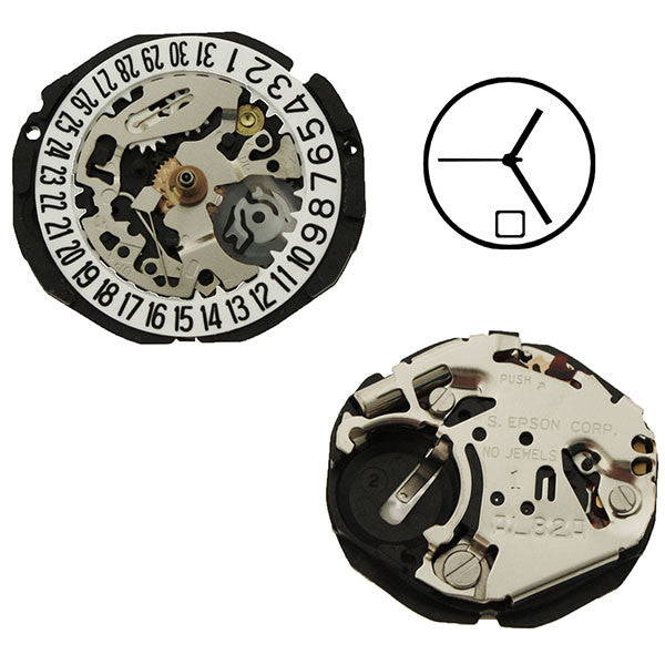 AL82 Date 6 Epson Watch Movement (9346029252)