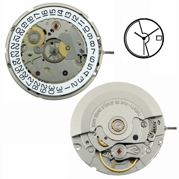 ETA 2824-2 Automatic with Date Watch Movement