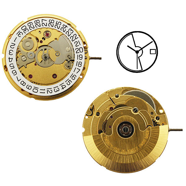 ETA 2824-2Y Automatic with Date Watch Movement (3831467147298)