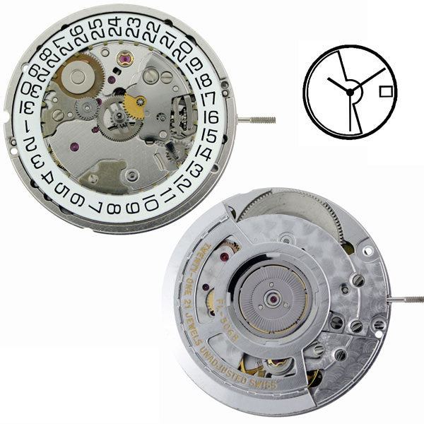 ETA 2892-A2 Automatic with Date Watch Movement
