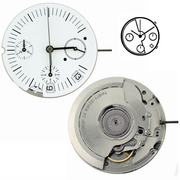 ETA 2894-2 Automatic Chronograph Watch Movement