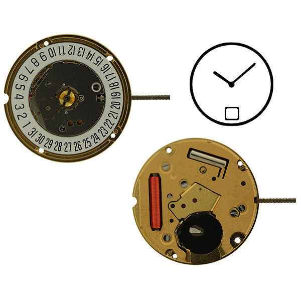 ETA F04-111-6-H1 2 Hands Watch Movement (9346046532)