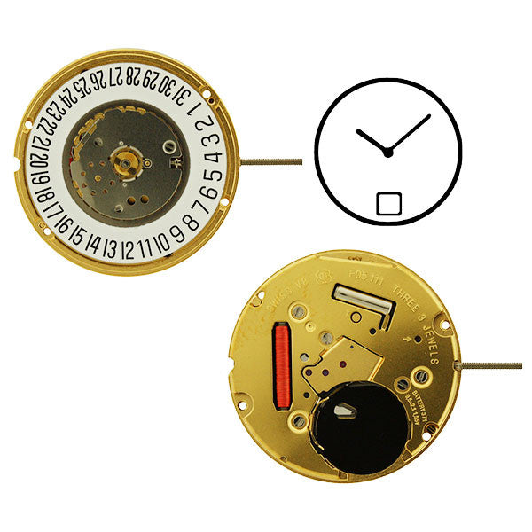 ETA F05-111-H1 2 Hand Date 6 Watch Movement (9346048580)