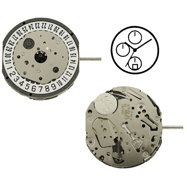 FS10 Date 6 Miyota Watch Movement (9346057732)
