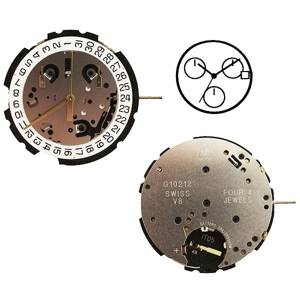 ETA G10-212 Calendar 3 Watch Movement