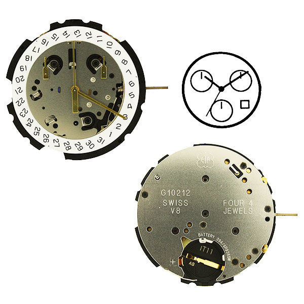 ETA G10-212-4 Horizontal Watch Movement