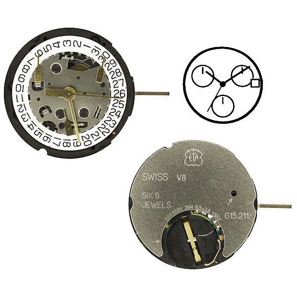 ETA G15-212-3 Watch Movement (9346065284)