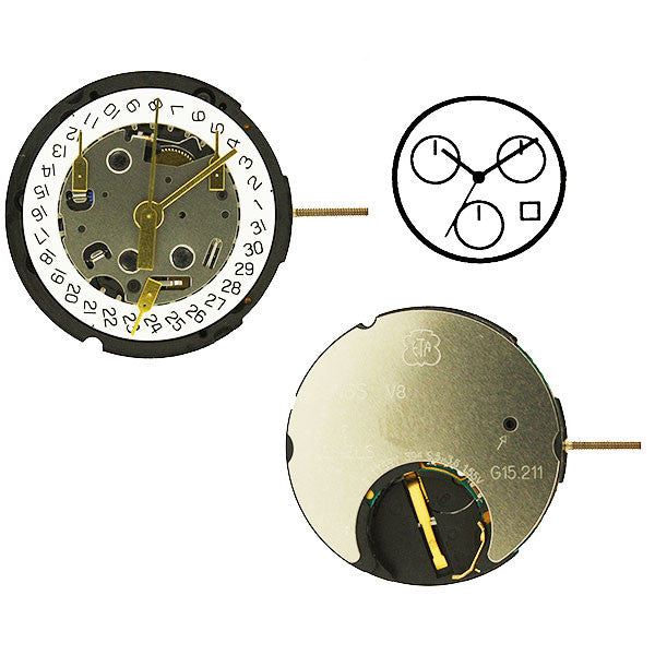 ETA G15-212 4 Horizontal Watch Movement