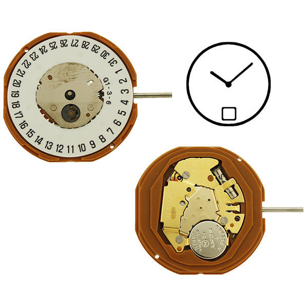 GM15 Date 6 Miyota Watch Movement