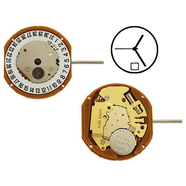 GN10 Date 6 Miyota Watch Movement (9346071108)