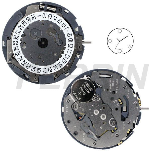 0S10- Date 4 S Watch Movement