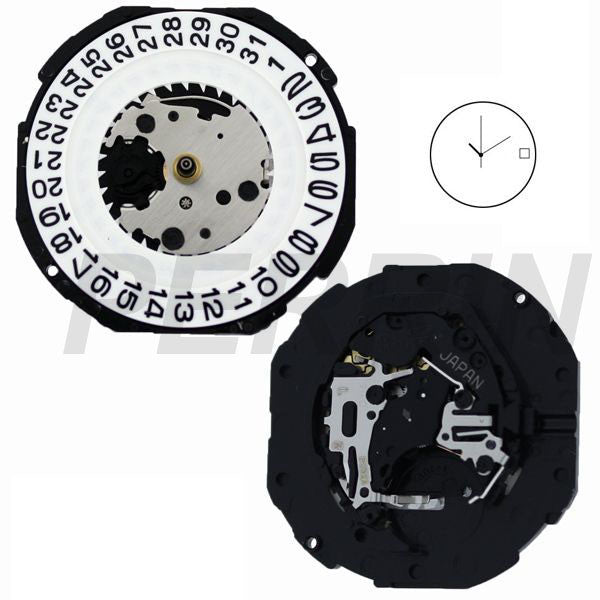 PC32 Date 3 SII Quartz Watch Movement (9346101444)