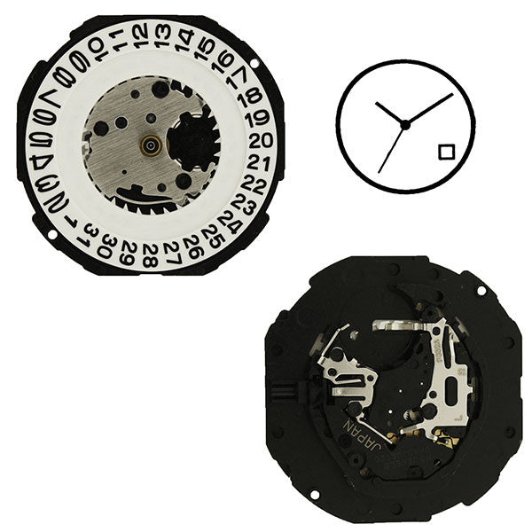 PC32 Date 4 SII Watch Movement