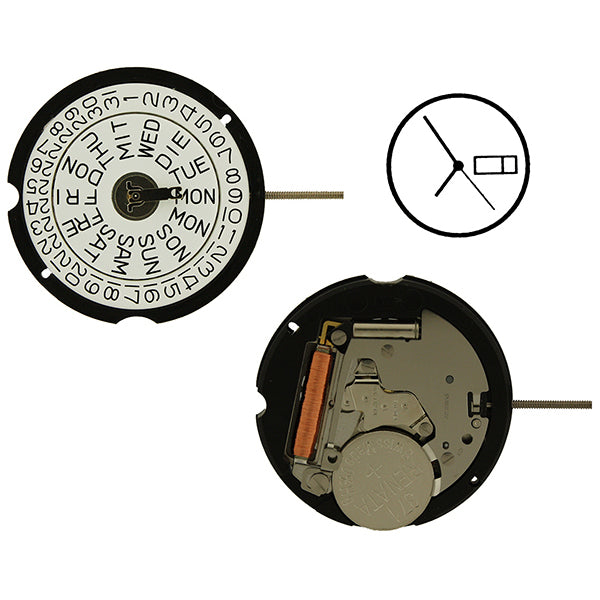 RL 507-D1 Swiss Assembled Watch Movement (9346120324)