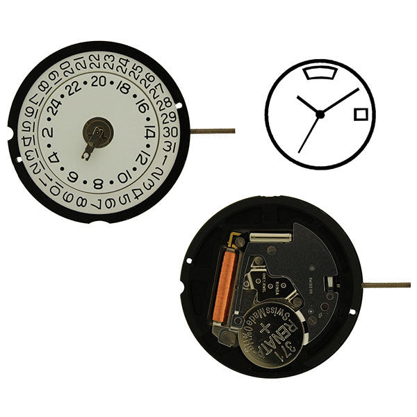 RL 515 Date 3 GMT 12 Watch Movement (9346122308)