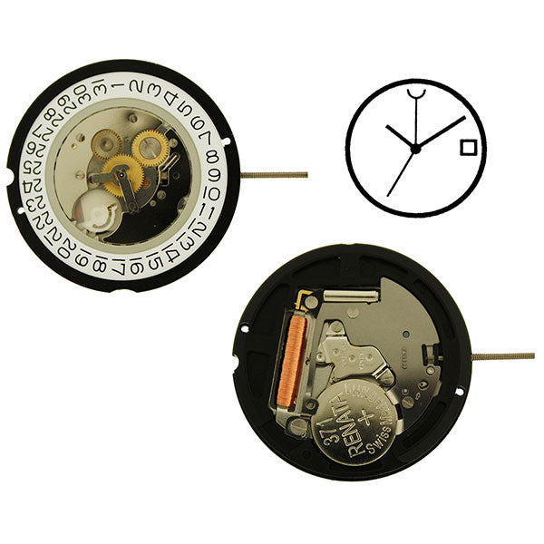 RL515 4 Hands GMT Watch Movement