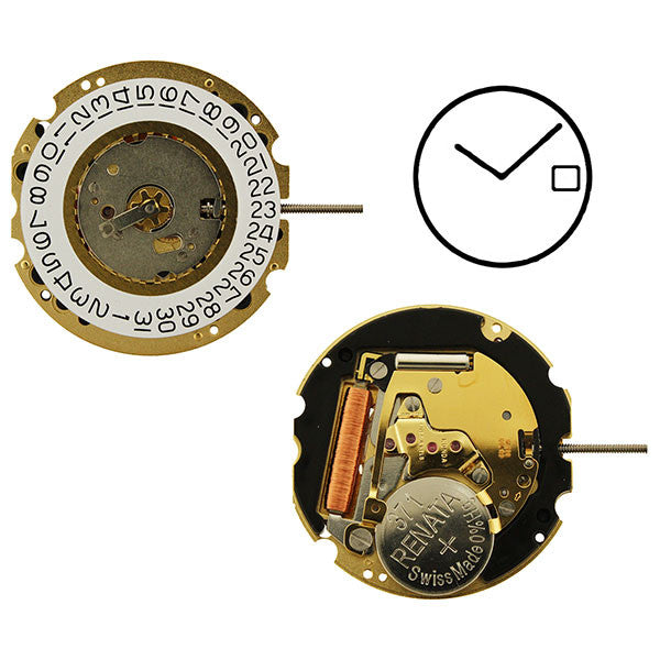 RL704 2 hands date Watch Movement